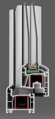 2-luft pvc fönster DREH-KIPP/DREH, 13x12