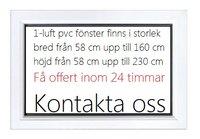 1-luft pvc fönster DREH/KIPP, 13x11