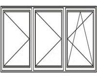 3-luft med två mittpost, DREH/DREH/DREH-KIPP, 18x13